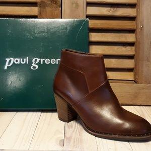 NIB* PAUL GREEN Stella Stud Saddle Leather Booties